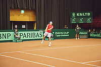 15-sept.-2013,Netherlands, Groningen,  Martini Plaza, Tennis, DavisCup Netherlands-Austria, Jurgen Melzer in front of boarding <br /> Photo: Henk Koster