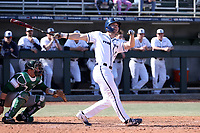 CARY, NC - FEBRUARY 23: Curtis Robison #17 of Penn State University hits a game-winning walk off three-run home run in the bottom of the eleventh inning during a game between Wagner and Penn State at Coleman Field at USA Baseball National Training Complex on February 23, 2020 in Cary, North Carolina.