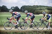 Alex Kirsch (LUX/Trek Segafredo) and  Quinn Simmins (USA/Trek Segafredo)<br /> <br /> Dwars Door Het Hageland 2020<br /> One Day Race: Aarschot – Diest 180km (UCI 1.1)<br /> Bingoal Cycling Cup 2020