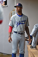 Chattanooga Lookouts center fielder Byron Buxton (7) before a game against the Tennessee Smokies on April 25, 2015 in Kodak, Tennessee. The Smokies defeated the Lookouts 16-10. (Tony Farlow/Four Seam Images)