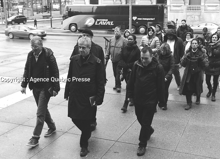 Procession<br /> du Vendredi Saint, 18 avril 2019<br /> - Monseigneur Lepine<br /> <br /> <br /> PHOTO : Agence Quebec Presse