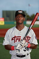 Tri-City ValleyCats E.P. Reese (36) poses for a photo before a NY-Penn League game against the Brooklyn Cyclones on August 17, 2019 at MCU Park in Brooklyn, New York.  The game was postponed due to inclement weather, Brooklyn defeated Tri-City 2-1 in the continuation of the game on August 18th.  (Mike Janes/Four Seam Images)