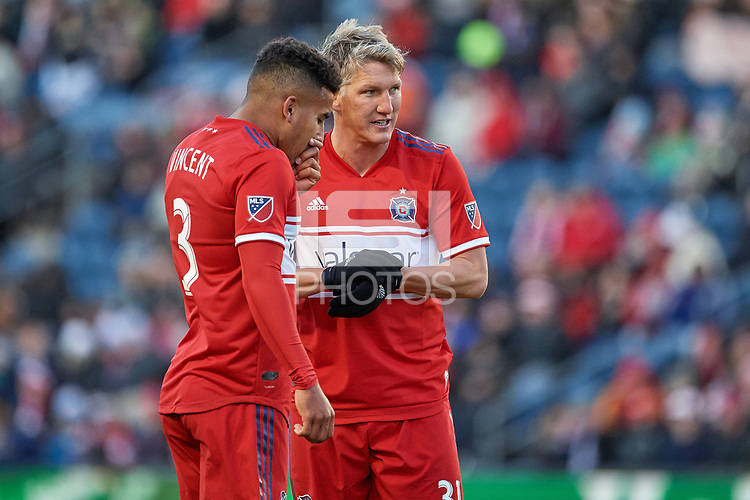 Bridgeview, IL - Saturday, March 10, 2018: Sporting KC defeated the Chicago Fire by the score of 4-3 in a Major League Soccer (MLS) game at Toyota Park.