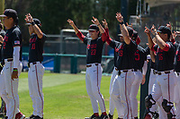 STANFORD, CA - JUNE 4: Team celebration during a game between North Dakota State and Stanford Baseball at Sunken Diamond on June 4, 2021 in Stanford, California.