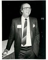 conference de presse du Manic<br /> en avril 1982 (date exacte inconnue)<br /> <br /> PHOTO :  Agence Quebec Presse