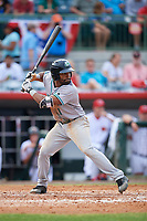 Daytona Tortugas designated hitter Malik Collymore (11) at bat during a game against the Florida Fire Frogs on April 7, 2018 at Osceola County Stadium in Kissimmee, Florida.  Daytona defeated Florida 4-3 in a six inning rain shortened game.  (Mike Janes/Four Seam Images)