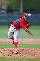 Philadelphia Phillies pitcher Alexis Rivero (80) during an instructional league game against the Toronto Blue Jays on October 3, 2015 at the Carpenter Complex in Clearwater, Florida.  (Mike Janes/Four Seam Images)