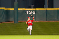 Center fielder Landon Appling #1 of the Houston Cougars makes a catch against the Kentucky Wildcats at Minute Maid Park on March 5, 2011 in Houston, Texas.  Photo by Brian Westerholt / Four Seam Images