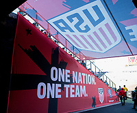 CARSON, CA - FEBRUARY 1: One Nation One Team USMNT tunnel during a game between Costa Rica and USMNT at Dignity Health Sports Park on February 1, 2020 in Carson, California.