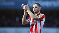 Brentford's Henrik Dalsgaard applauds the home fans at the final whistle during Brentford vs Middlesbrough, Sky Bet EFL Championship Football at Griffin Park on 8th February 2020