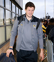 Photo: Richard Lane/Richard Lane Photography. Wasps v Toulouse.  European Rugby Champions Cup. 08/12/2018. Wasps' Charlie Matthews arrives.