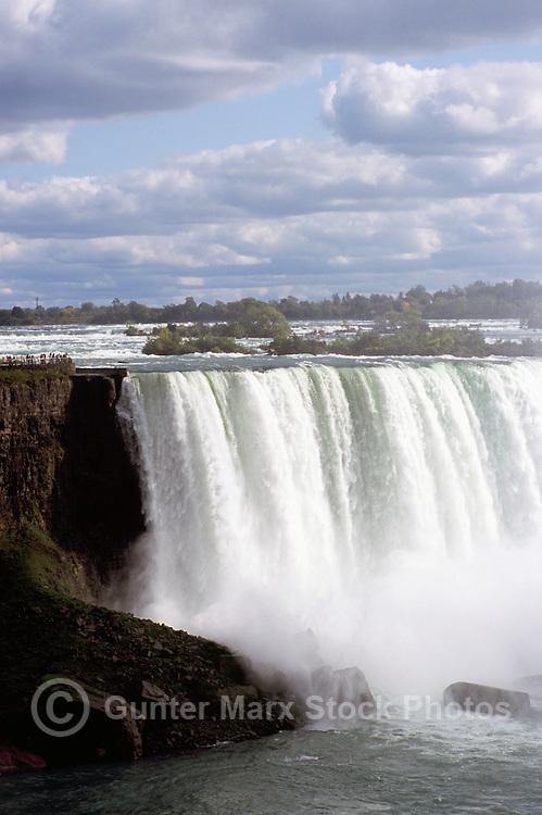 Niagara Falls (Canadian 'Horseshoe Falls') and the Niagara River, in the City of Niagara Falls, Ontario, Canada - Natural Wonder of the World