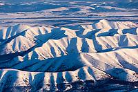 Snow covered Alatna hills region, north of the Yukon River, Interior, Alaska.