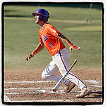 James Parker (15) of the Clemson Tigers hits a two-run home run to help Orange get the 3-1 win in Game 2 of the Orange-Purple intrasquad scrimmage series on Saturday, November 21, 2020, at Doug Kingsmore Stadium in Clemson, South Carolina. (Tom Priddy/Four Seam Images) #Clemson