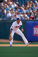 Buffalo Bisons first baseman Rowdy Tellez (21) during a game against the Syracuse Chiefs on July 3, 2017 at Coca-Cola Field in Buffalo, New York.  Buffalo defeated Syracuse 6-2.  (Mike Janes/Four Seam Images)