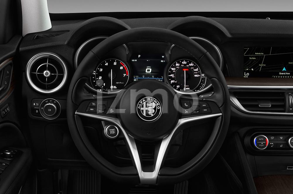 Steering wheel view of a 2019 GMC Sierra 1500 SLT 4 Door Pick Up