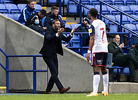 Bolton Wanderers' head coach Ian Evatt vents his frustration<br /> <br /> Photographer Andrew Kearns/CameraSport<br /> <br /> The EFL Sky Bet League Two - Bolton Wanderers v Oldham Athletic - Saturday 17th October 2020 - University of Bolton Stadium - Bolton<br /> <br /> World Copyright © 2020 CameraSport. All rights reserved. 43 Linden Ave. Countesthorpe. Leicester. England. LE8 5PG - Tel: +44 (0) 116 277 4147 - admin@camerasport.com - www.camerasport.com