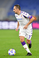 Football, Serie A: AS Roma - Fiorentina, Olympic stadium, Rome, November 1, 2020. <br /> Fiorentina's captain Franck Ribery in action during the Italian Serie A football match between Roma and Fiorentina at Olympic stadium in Rome, on November 1, 2020. <br /> UPDATE IMAGES PRESS/Isabella Bonotto