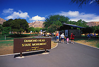Diamond head state monument. A scenic hike for thousands of Oahu visitors