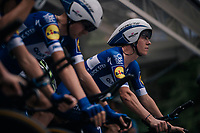 Bob Jungels (LUX/Quick-Step Floors) lined up on the start ramp<br /> <br /> UCI MEN'S TEAM TIME TRIAL<br /> Ötztal to Innsbruck: 62.8 km<br /> <br /> UCI 2018 Road World Championships<br /> Innsbruck - Tirol / Austria