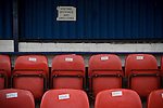 Glossop North End 0 Barnoldswick Town 1, 19/02/2011. Surrey Street, North West Counties League Premier Division. A notice indicating seating for directors and VIPs in the main stand at Glossop North End's Surrey Street ground before the club's game with Barnoldswick Town in the Vodkat North West Counties League premier division. The visitors won the match by one goal to nil watched by a crowd of 203 spectators. Glossop North End celebrated their 125th anniversary in 2011 and were once members of the Football League in England, spending one season in the top division in 1899-00. Photo by Colin McPherson.