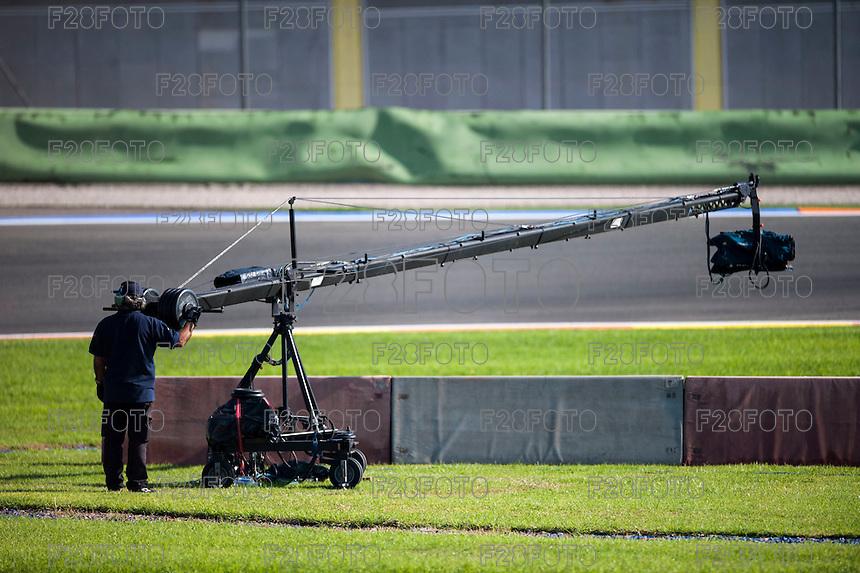 VALENCIA, SPAIN - NOVEMBER 8: TV camera during Valencia MotoGP 2015 at Ricardo Tormo Circuit on November 8, 2015 in Valencia, Spain
