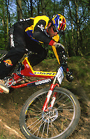 20101-40919-02a  Rob Warner Giant Bike and clothing<br />  Nettlebed Woods , Oxfordshire <br /> Pic copyright Steve Behr / Stockfile
