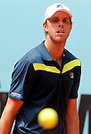 Sam Querrey during Madrid Open Tennis 2015 match.May, 4, 2015.(ALTERPHOTOS/Acero)