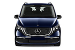 Car photography straight front view of a 2021 Mercedes Benz EQV - 5 Door Passanger Van Front View