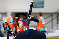 The bagpipes of the London Scottish piper during the Championship Cup match between London Scottish Football Club and Nottingham Rugby at Richmond Athletic Ground, Richmond, United Kingdom on 28 September 2019. Photo by Carlton Myrie / PRiME Media Images