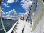 Onboard the 63 feet Loki for the first test sail in the Sydney Harbour..McConaghy Boats in Mona Vale, Australia built the new Reichel-Pugh 63 Loki For Stephen Ainsworth.