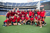 San Diego, CA - July 29, 2017: The USWNT trains before the second match of the Tournament of Nations at Qualcomm Stadium.