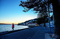 Oriental Parade at 7.30am, Friday during Level 4 lockdown for the COVID-19 pandemic in Wellington, New Zealand on Friday, 20 August 2021.