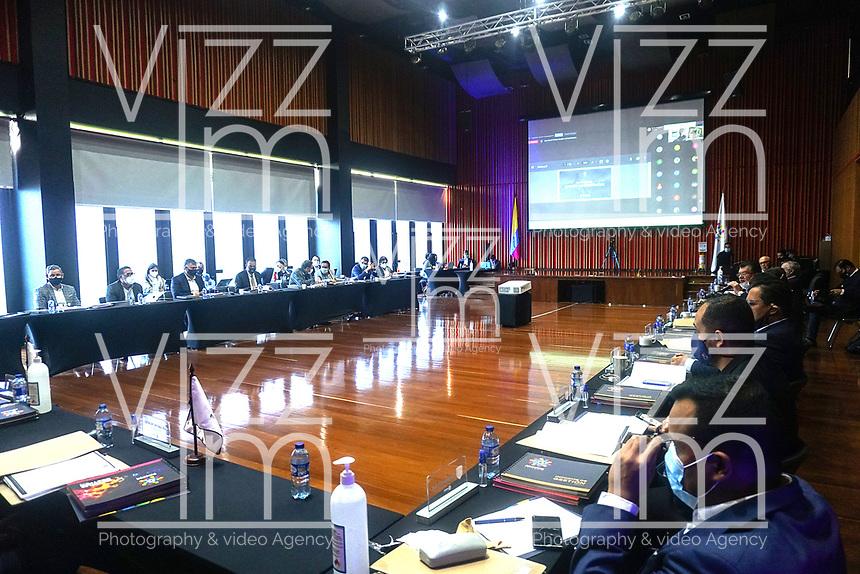 BOGOTÁ- COLOMBIA, 18-03-2021:Asamblea general de La Dimayor./ General Assembly of La Dimayor. / Daniel Garzon / Contribuidor