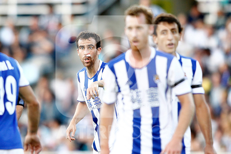 Real Sociedad's Mikel Gonzalez during La Liga match. August 21,2016. (ALTERPHOTOS/Acero)