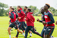 Wednesday 26 July 2017<br /> Pictured: Gylfi Sigurdsson of Swansea City and team mares during training <br /> Re: Swansea City FC Training session takes place at the Fairwood Training Ground, Swansea, Wales, UK