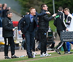 St Johnstone v Inverness Caley Thistle.....27.04.13      SPL.Steve Lomas and Tommy Wright shout instructions.Picture by Graeme Hart..Copyright Perthshire Picture Agency.Tel: 01738 623350  Mobile: 07990 594431