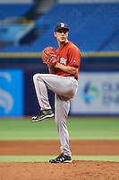Boston Red Sox Jake Cosart (52) during an instructional league game against the Tampa Bay Rays on September 24, 2015 at Tropicana Field in St Petersburg, Florida.  (Mike Janes/Four Seam Images)