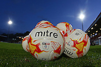 Match balls on the pitch ahead of Stevenage vs Brighton & Hove Albion Under-23, Checkatrade Trophy Football at the Lamex Stadium on 4th October 2016