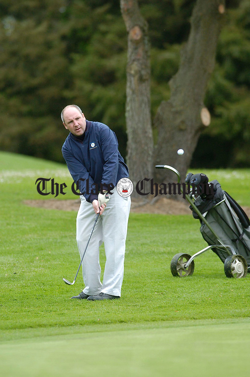 Tipperary stalwart John Leahy pictured during the Hurlers Golf Society captain's Day (Jim Corr) at Shannon Golf Club. Photograph by John Kelly.