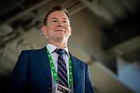 SAN JOSE, CA - JUNE 26: Chris Leitch Technical Director of the San Jose Earthquakes before a game between Los Angeles Galaxy and San Jose Earthquakes at PayPal Park on June 26, 2021 in San Jose, California.