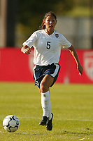 Tiffany Roberts of the USWNT. The USWNT defeated Russia 5-1 on  September 29, at Mitchel Athletic Complex, Uniondale, NY.