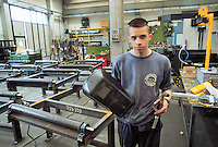 - young worker at machine tool factory  FICEP....- giovane operaio presso la fabbrica di macchine utensili FICEP