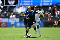 SAN JOSE, CA - JUNE 8: Tommy Thompson #22, Jesus Ferreira #27 during a game between FC Dallas and San Jose Earthquakes at Avaya Stadium on June 8, 2019 in San Jose, California.