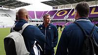 Orlando, Florida - Saturday January 13, 2018: Todd Yeagley with Bo Oshoniyi and Kris Kelderman. Match Day 1 of the 2018 adidas MLS Player Combine was held Orlando City Stadium.