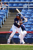 Binghamton Mets first baseman Dominic Smith (22) at bat during a game against the Richmond Flying Squirrels on June 26, 2016 at NYSEG Stadium in Binghamton, New York.  Binghamton defeated Richmond 7-2.  (Mike Janes/Four Seam Images)