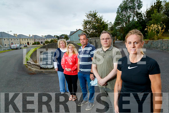 Residents of Oakfield square, Oakpark, Tralee, from left: Jane O'Driscoll, Tina Stack, Billy O'Sullivan,  Brian Hayden, and Helen Tansley.