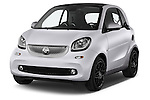 2015 Smart FORTWO PRIME 3 Door Micro Car Angular Front stock photos of front three quarter view