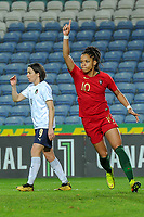 20200304 Faro , Portugal : Portugese forward Jessica Silva(10)  pictured during the female football game between the national teams of Portugal and Italy on the first matchday of the Algarve Cup 2020 , a prestigious friendly womensoccer tournament in Portugal , on wednesday 4 th March 2020 in Faro , Portugal . PHOTO SPORTPIX.BE   STIJN AUDOOREN