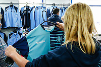 The new Wycombe Wanderers home kt is inspected during the 2016/17 Kit Launch of Wycombe Wanderers to the public at Adams Park, High Wycombe, England on 10 July 2016. Photo by David Horn.